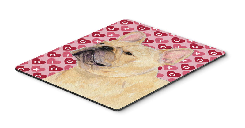 Buy this French Bulldog Hearts Love and Valentine's Day  Mouse Pad, Hot Pad or Trivet