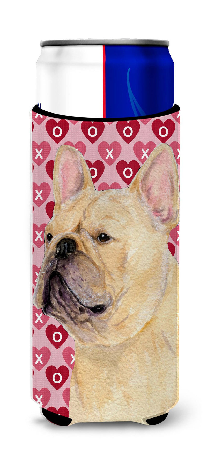 Buy this French Bulldog Hearts Love and Valentine's Day Portrait Ultra Beverage Insulators for slim cans SS4485MUK