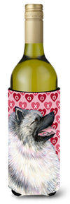 Buy this Keeshond Hearts Love and Valentine's Day Portrait Wine Bottle Beverage Insulator Beverage Insulator Hugger