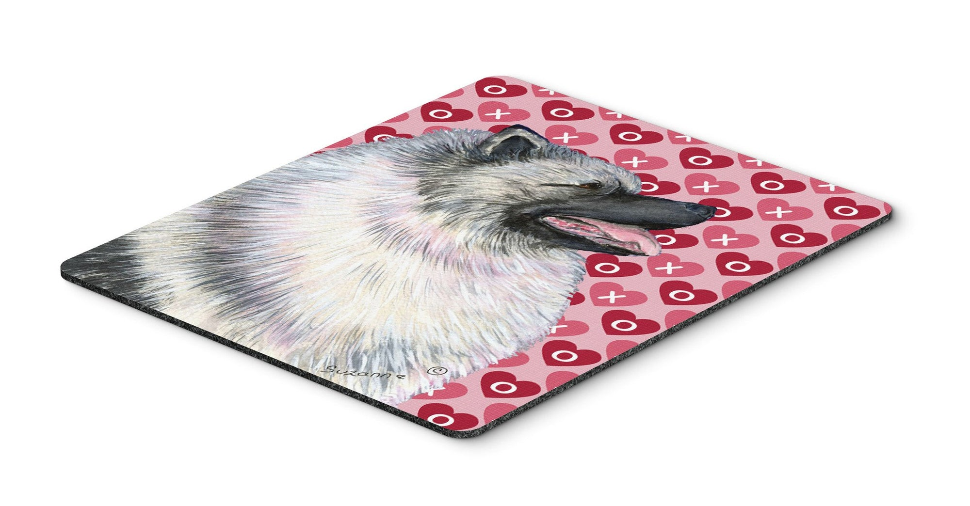 Keeshond Hearts Love and Valentine's Day Portrait Mouse Pad, Hot Pad or Trivet by Caroline's Treasures