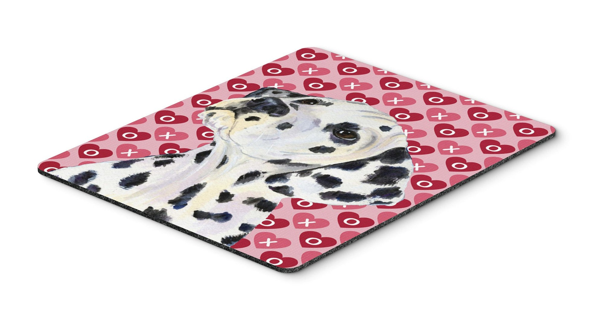 Dalmatian Hearts Love and Valentine's Day Portrait Mouse Pad, Hot Pad or Trivet by Caroline's Treasures