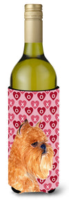 Brussels Griffon Hearts Love and Valentine's Day  Wine Bottle Beverage Insulator Beverage Insulator Hugger by Caroline's Treasures