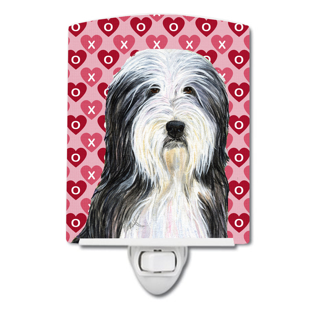 Buy this Bearded Collie Hearts Love and Valentine's Day Portrait Ceramic Night Light SS4497CNL