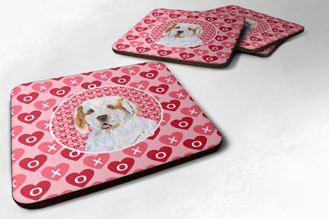Buy this Set of 4 Clumber Spaniel  Foam Coasters
