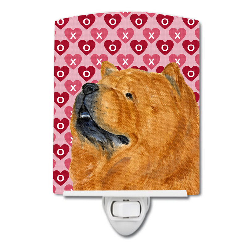 Buy this Chow Chow Hearts Love and Valentine's Day Portrait Ceramic Night Light SS4502CNL