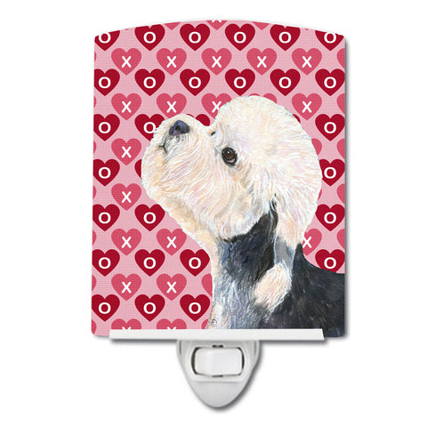 Buy this Dandie Dinmont Terrier Hearts Love Valentine's Day Ceramic Night Light SS4503CNL