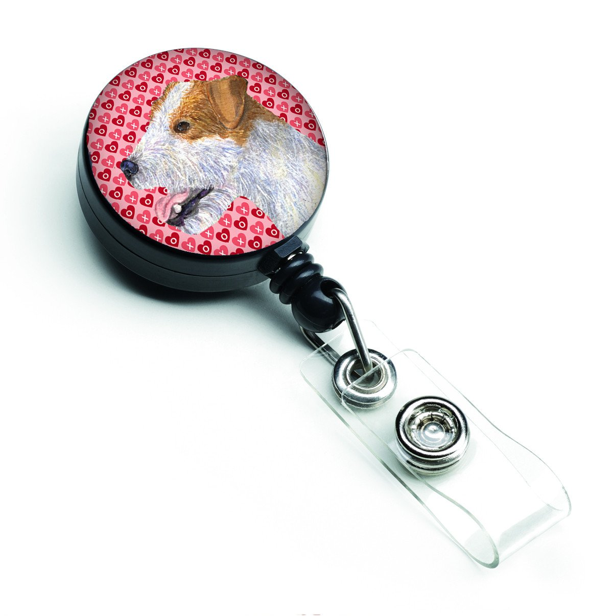 Buy this Jack Russell Terrier Love Retractable Badge Reel or ID Holder with Clip