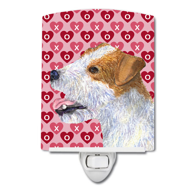 Buy this Jack Russell Terrier Hearts Love and Valentine's Day Portrait Ceramic Night Light SS4504CNL