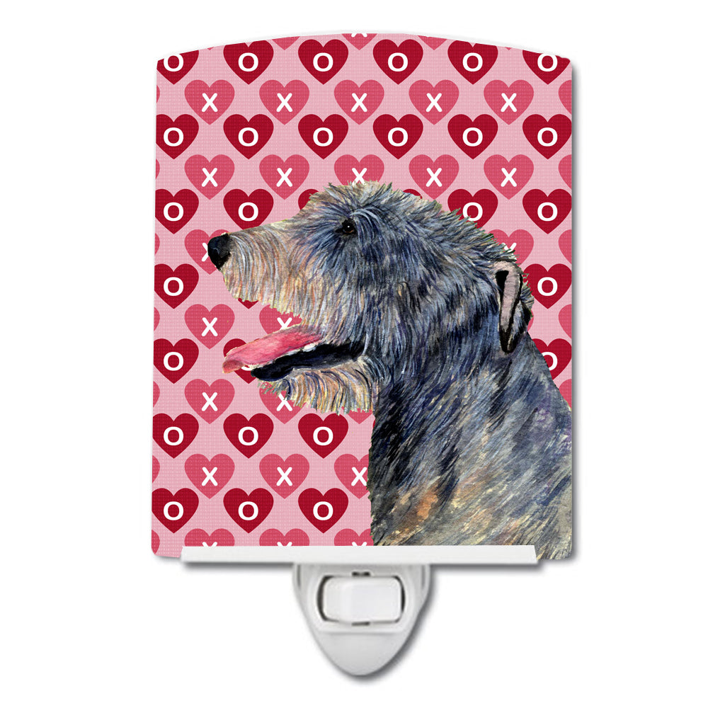 Buy this Irish Wolfhound Hearts Love and Valentine's Day Portrait Ceramic Night Light SS4506CNL