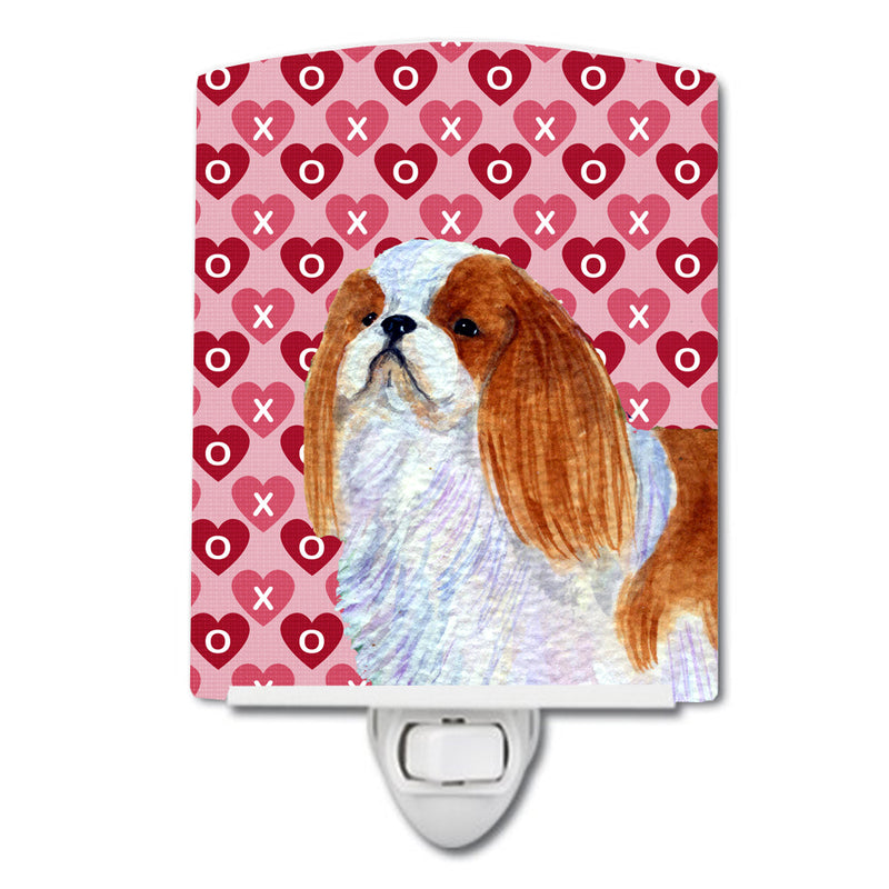Buy this English Toy Spaniel Hearts Love and Valentine's Day Portrait Ceramic Night Light SS4507CNL