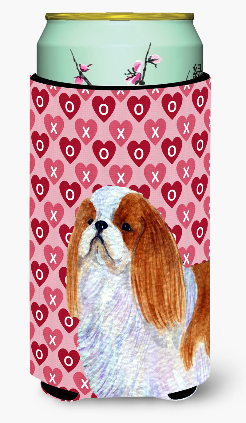 Buy this English Toy Spaniel Hearts Love and Valentine's Day Tall Boy Beverage Insulator Beverage Insulator Hugger