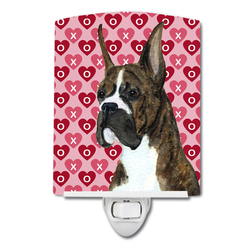 Buy this Boxer Hearts Love and Valentine's Day Portrait Ceramic Night Light SS4508CNL