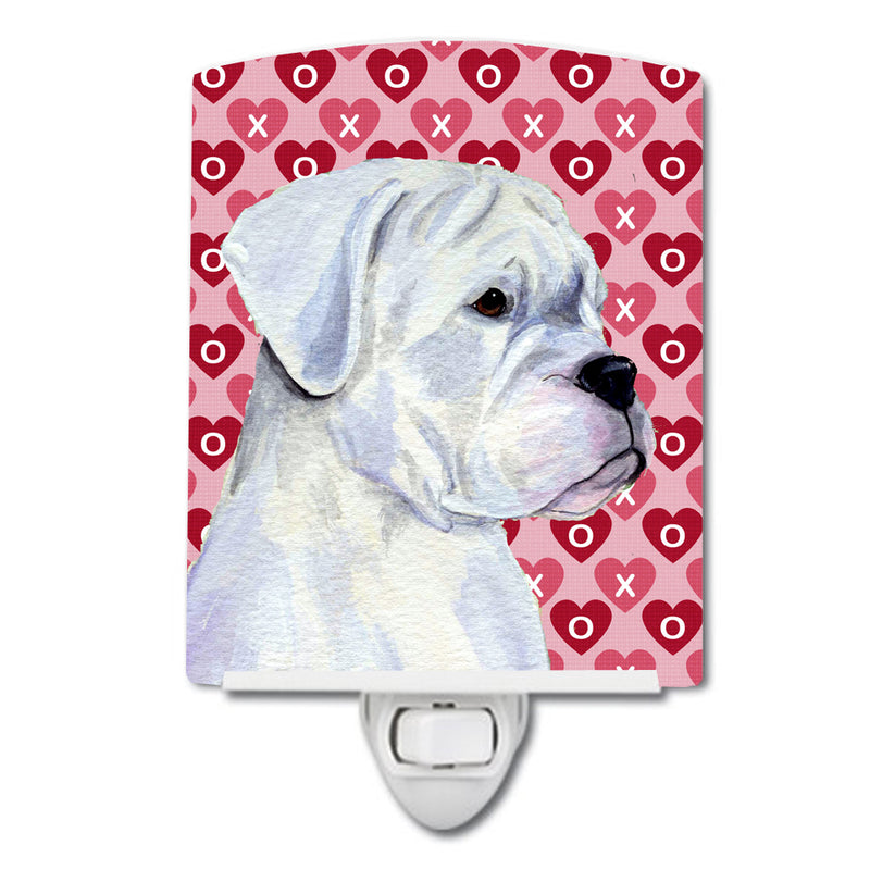 Buy this Boxer Hearts Love and Valentine's Day Portrait Ceramic Night Light SS4509CNL