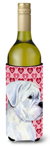Buy this Boxer Hearts Love and Valentine's Day  Wine Bottle Beverage Insulator Beverage Insulator Hugger