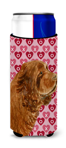Buy this Sussex Spaniel Hearts Love Valentine's Day Ultra Beverage Insulators for slim cans SS4510MUK