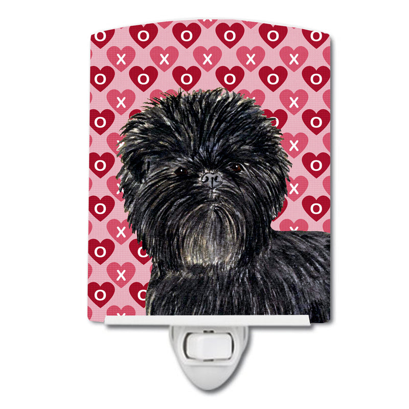 Buy this Affenpinscher Hearts Love and Valentine's Day Portrait Ceramic Night Light SS4511CNL