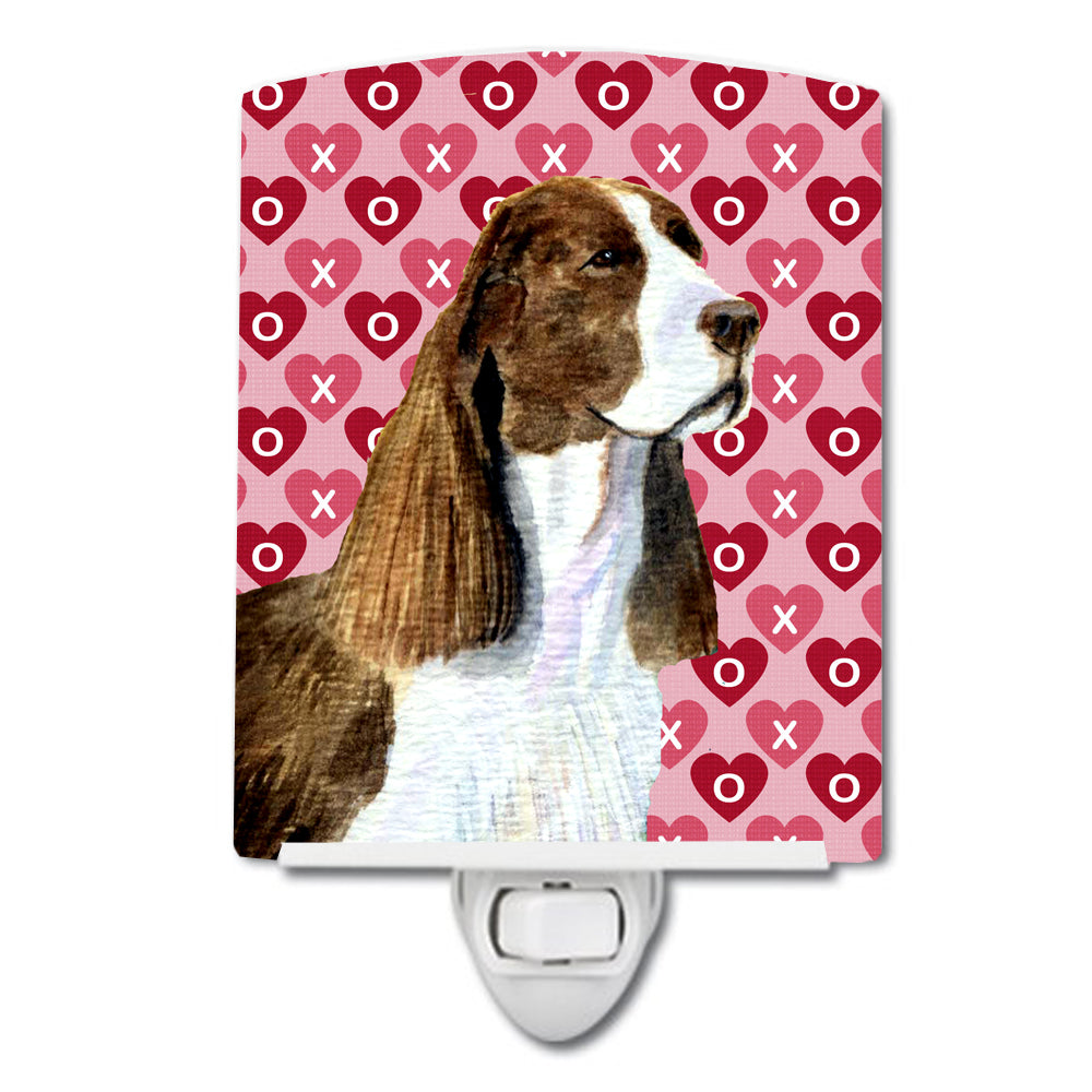 Buy this Springer Spaniel Hearts Love Valentine's Day Ceramic Night Light SS4513CNL