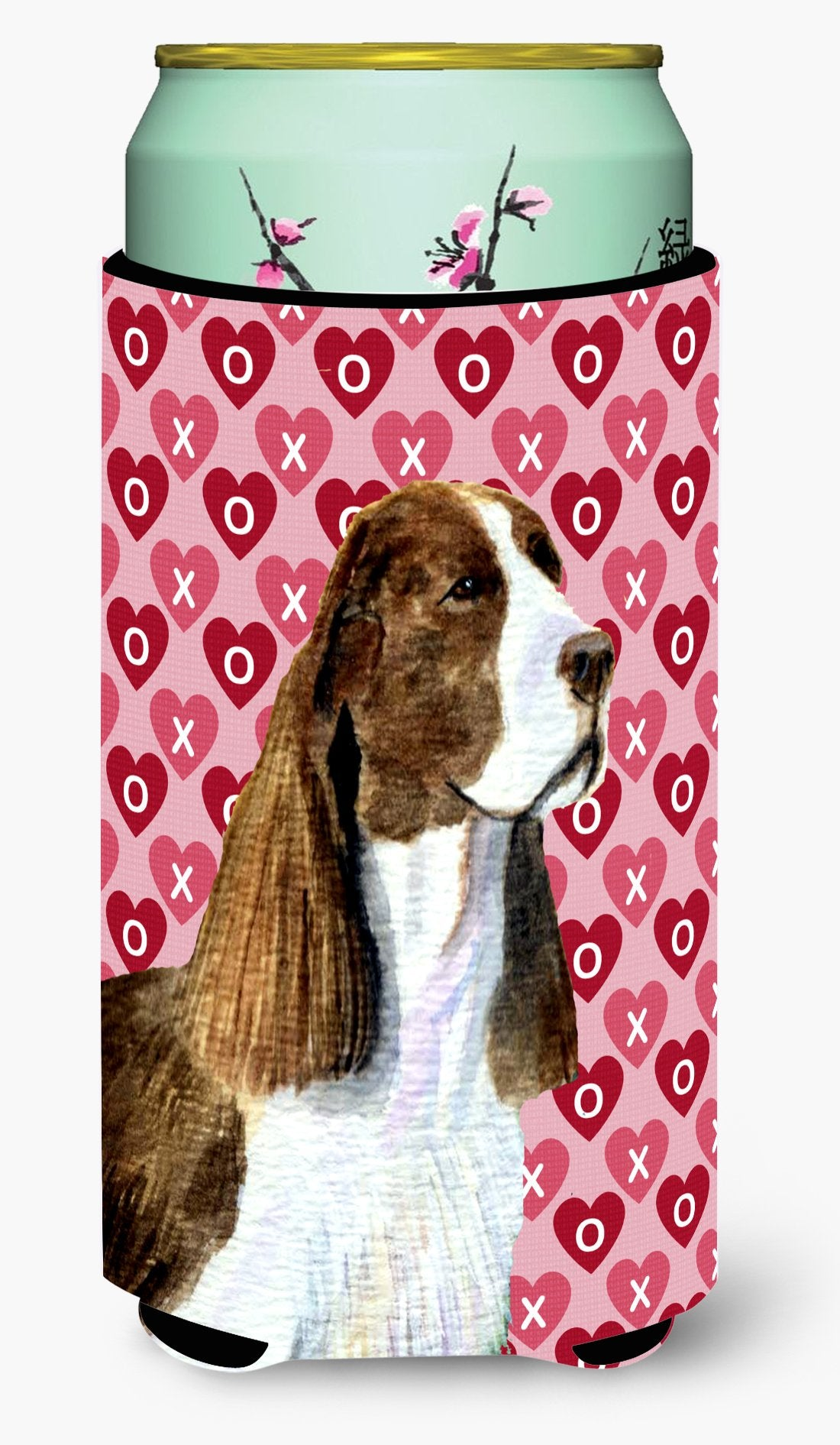 Buy this Springer Spaniel Hearts Love Valentine's Day Tall Boy Beverage Insulator Beverage Insulator Hugger