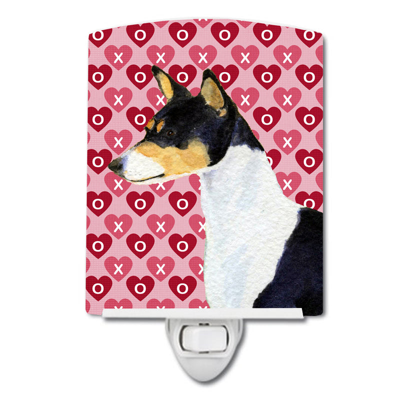 Buy this Basenji Hearts Love and Valentine's Day Portrait Ceramic Night Light SS4514CNL