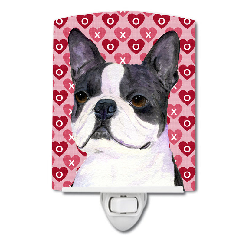 Buy this Boston Terrier Hearts Love Valentine's Day Ceramic Night Light SS4516CNL