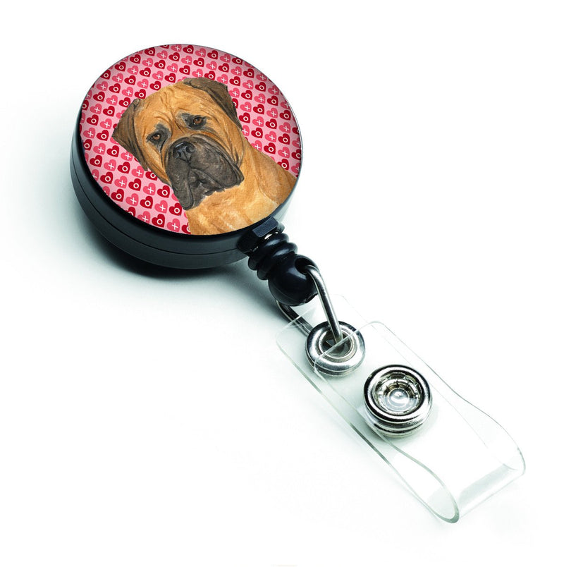 Bullmastiff Love Retractable Badge Reel or ID Holder with Clip by Caroline's Treasures