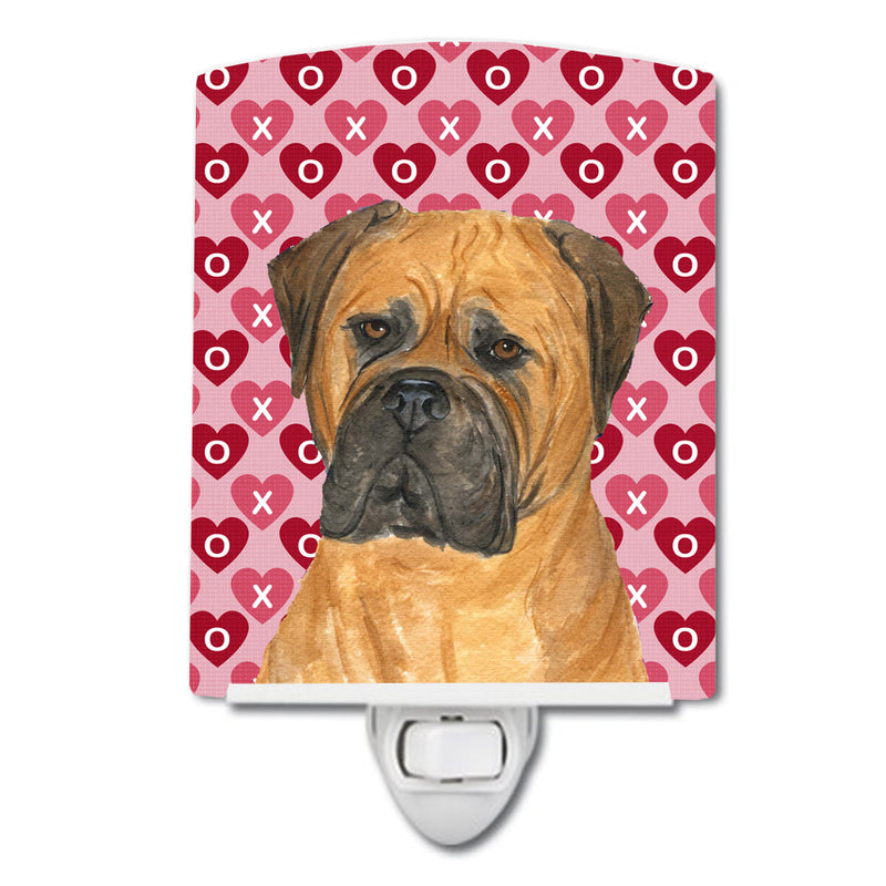 Buy this Bullmastiff Hearts Love and Valentine's Day Portrait Ceramic Night Light SS4517CNL