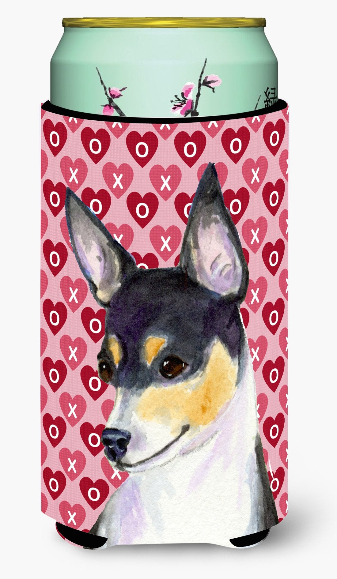 Buy this Chihuahua Hearts Love and Valentine's Day Portrait Tall Boy Beverage Insulator Beverage Insulator Hugger