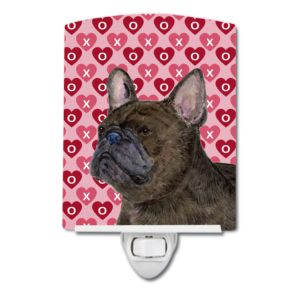 Buy this French Bulldog Hearts Love and Valentine's Day Portrait Ceramic Night Light SS4519CNL