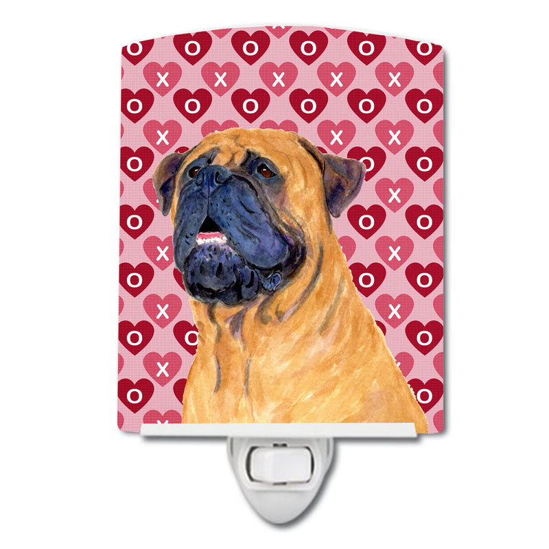 Buy this Mastiff Hearts Love and Valentine's Day Portrait Ceramic Night Light SS4520CNL