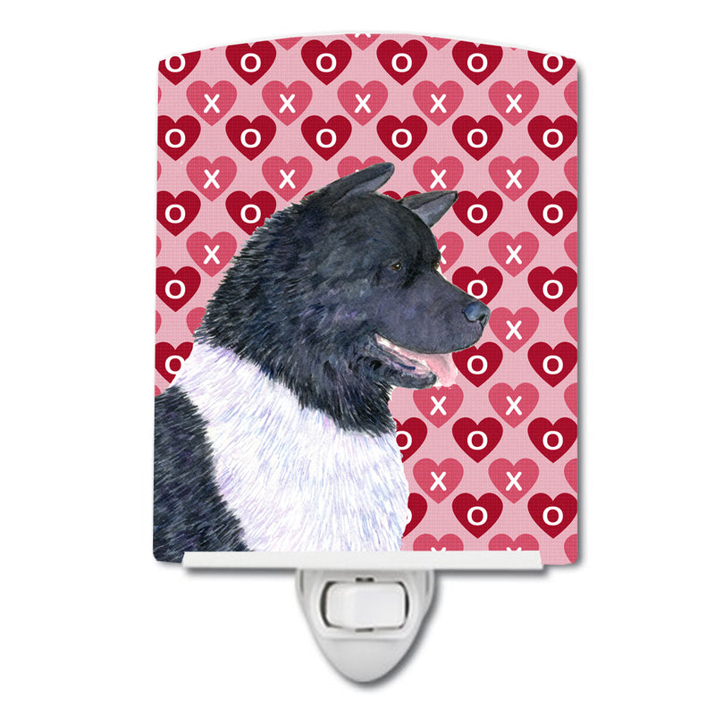 Buy this Akita Hearts Love and Valentine's Day Portrait Ceramic Night Light SS4521CNL