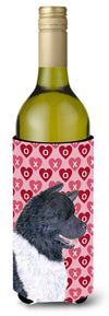 Akita Hearts Love and Valentine's Day Portrait Wine Bottle Beverage Insulator Beverage Insulator Hugger by Caroline's Treasures