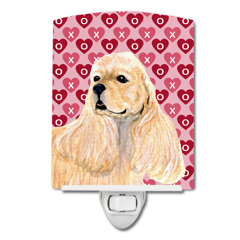 Buy this Buff Cocker Spaniel Hearts Love Valentine's Day Ceramic Night Light SS4522CNL