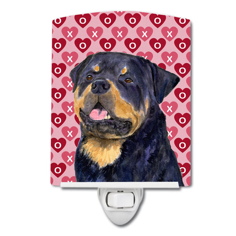 Buy this Rottweiler Hearts Love and Valentine's Day Portrait Ceramic Night Light SS4524CNL