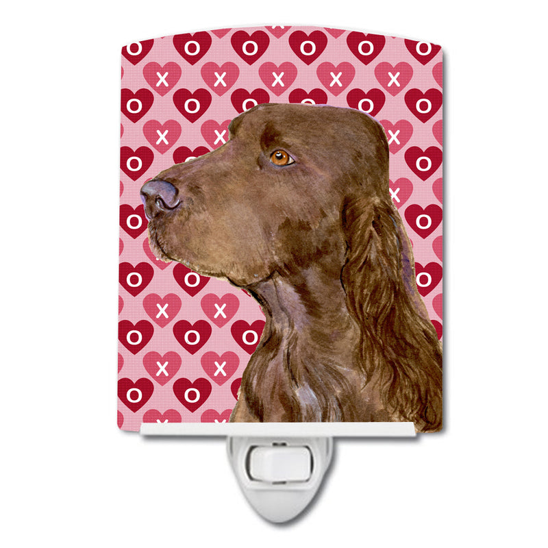 Buy this Field Spaniel Hearts Love and Valentine's Day Portrait Ceramic Night Light SS4525CNL