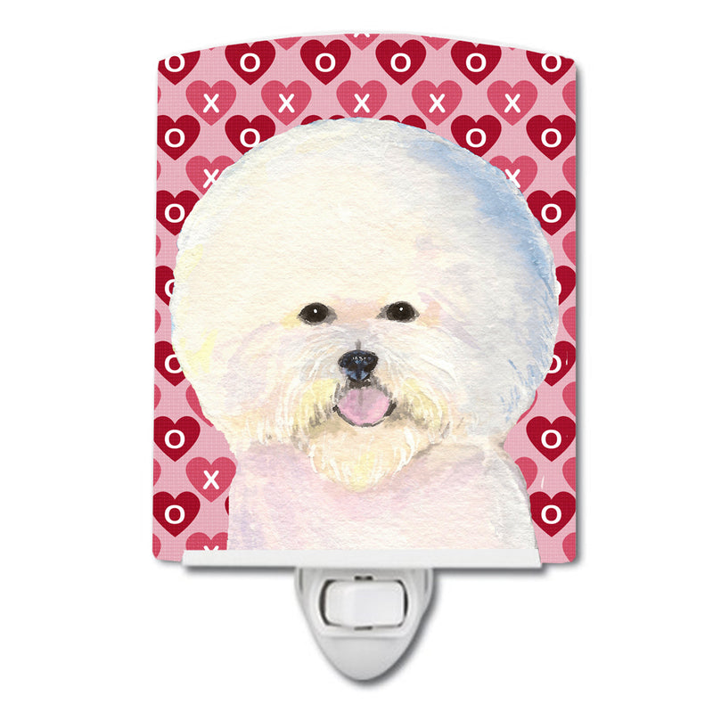 Buy this Bichon Frise Hearts Love and Valentine's Day Portrait Ceramic Night Light SS4526CNL