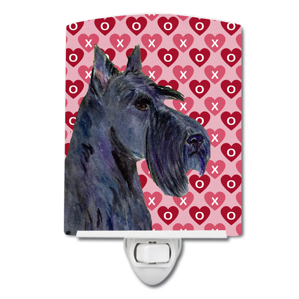 Buy this Scottish Terrier Hearts Love Valentine's Day Portrait Ceramic Night Light SS4529CNL