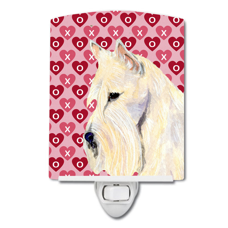 Buy this Scottish Terrier Hearts Love Valentine's Day Portrait Ceramic Night Light SS4530CNL