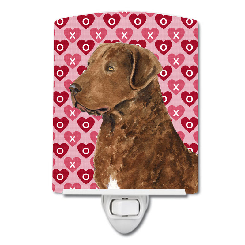 Buy this Chesapeake Bay Retriever Hearts Love and Valentine's Day Ceramic Night Light SS4531CNL