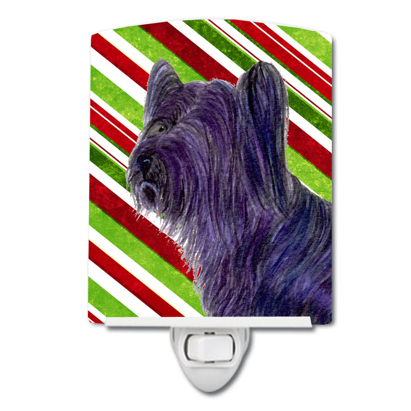 Buy this Skye Terrier Candy Cane Holiday Christmas Ceramic Night Light SS4532CNL