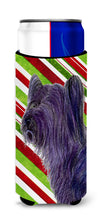 Buy this Skye Terrier Candy Cane Holiday Christmas Ultra Beverage Insulators for slim cans SS4532MUK