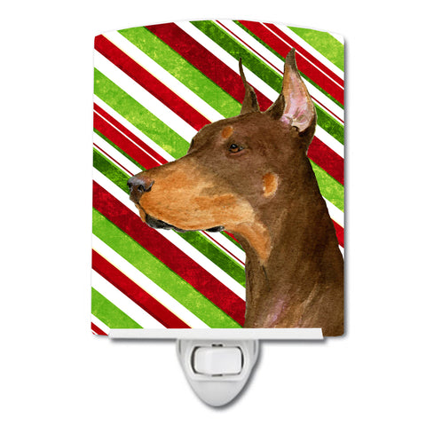 Buy this Doberman Candy Cane Holiday Christmas Ceramic Night Light SS4537CNL