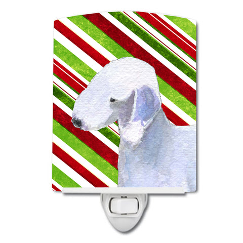 Buy this Bedlington Terrier Candy Cane Holiday Christmas Ceramic Night Light SS4552CNL