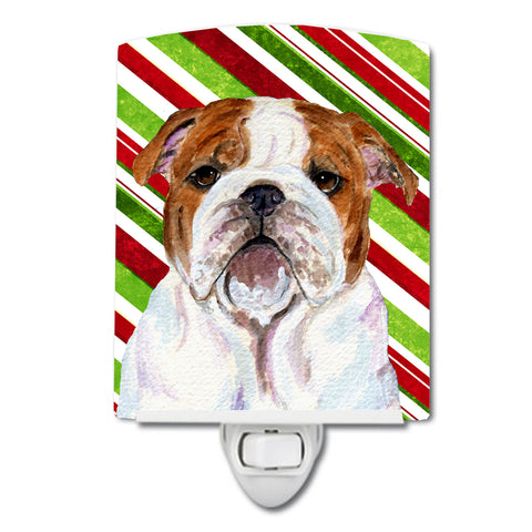 Buy this Bulldog English Candy Cane Holiday Christmas Ceramic Night Light SS4553CNL