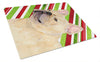 French Bulldog Candy Cane Holiday Christmas Glass Cutting Board Large by Caroline's Treasures