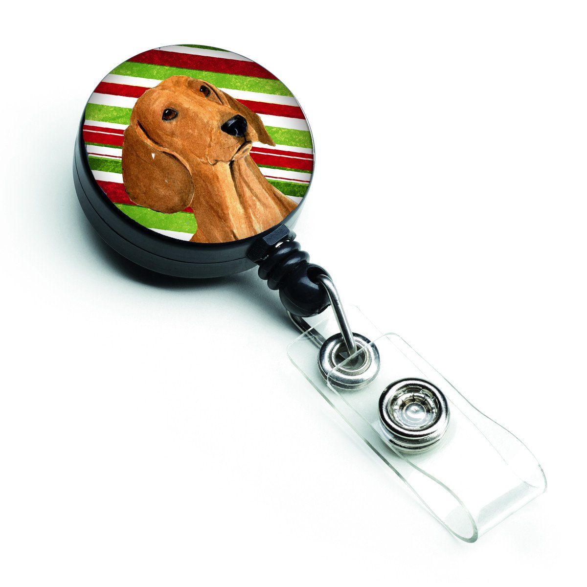 Dachshund Candy Cane Holiday Christmas Retractable Badge Reel SS4556BR by Caroline's Treasures