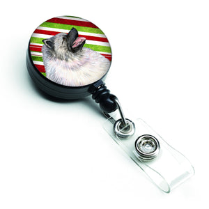 Buy this Keeshond Candy Cane Holiday Christmas Retractable Badge Reel SS4557BR