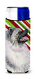 Keeshond Candy Cane Holiday Christmas Ultra Beverage Insulators for slim cans SS4557MUK by Caroline's Treasures