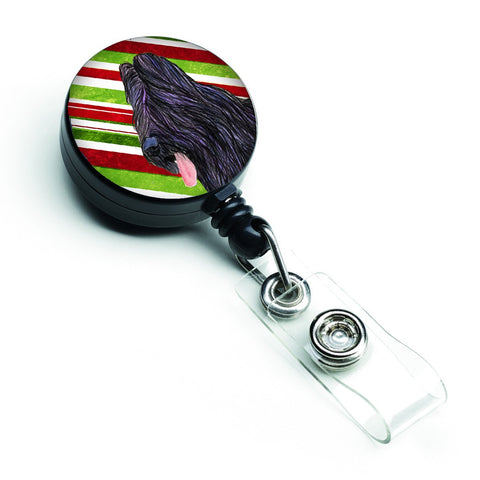 Buy this Briard Candy Cane Holiday Christmas Retractable Badge Reel SS4558BR
