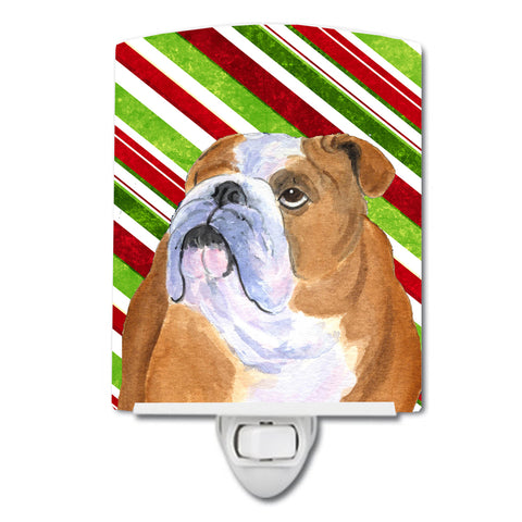 Buy this Bulldog English Candy Cane Holiday Christmas Ceramic Night Light SS4560CNL