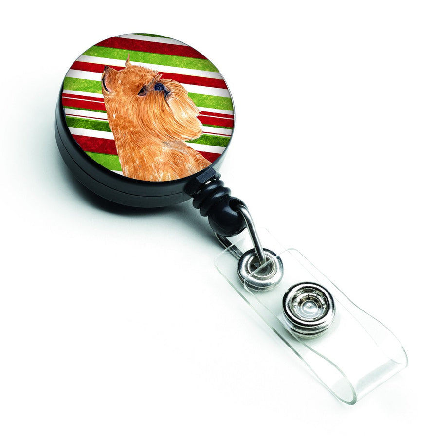 Buy this Brussels Griffon Candy Cane Holiday Christmas Retractable Badge Reel SS4563BR